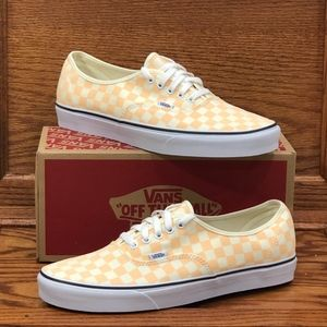 Vans Authentic Checkerboard Apricot Shoes*